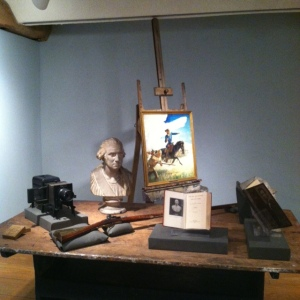 Wyeth work table and easel.