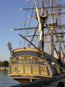 HMS Bounty built for the 1962 movie starring Marlon Brando and Trevor Howard. The ship was destroyed during  Hurricane Sandy storm.