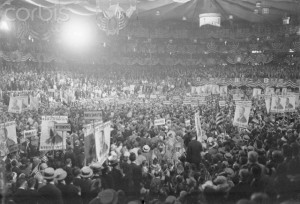 Interior of a Democratic Convention