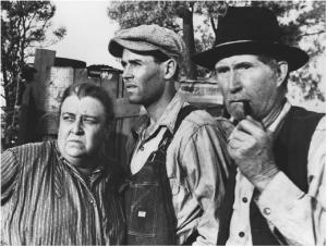 Jane Darwell with Henry Fonda and John Carradine