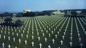 The US military cemetery at St. Laurent-sur-Mer, Normandy, France
