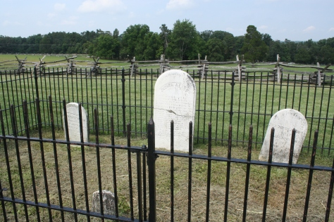 Judith Henry's grave site along with her children.
