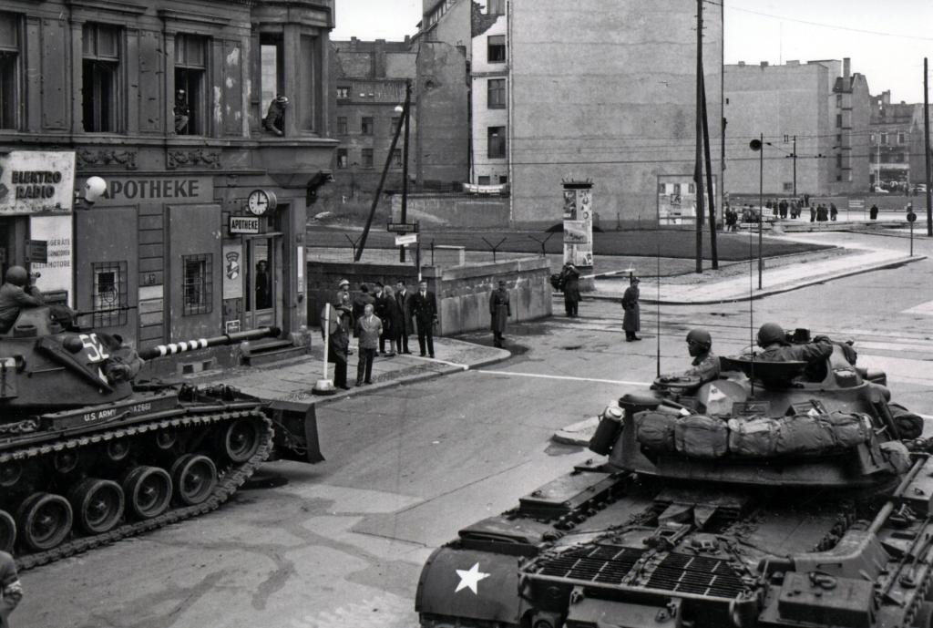 tanks rolling through town