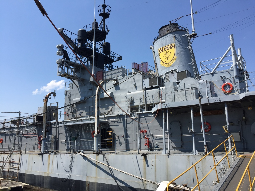 The USS Orleck Naval Museum docked serving the community at Lake Charles, LA.